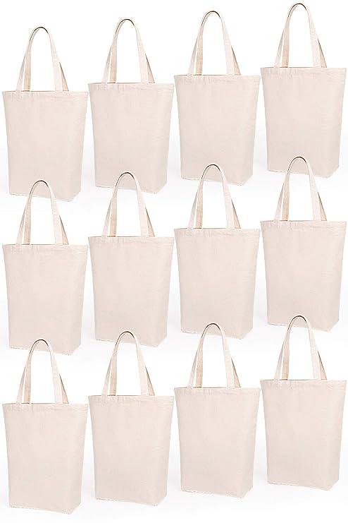 Amazon.com: Lily Queen - Bolsa de lona natural, reutilizable ...