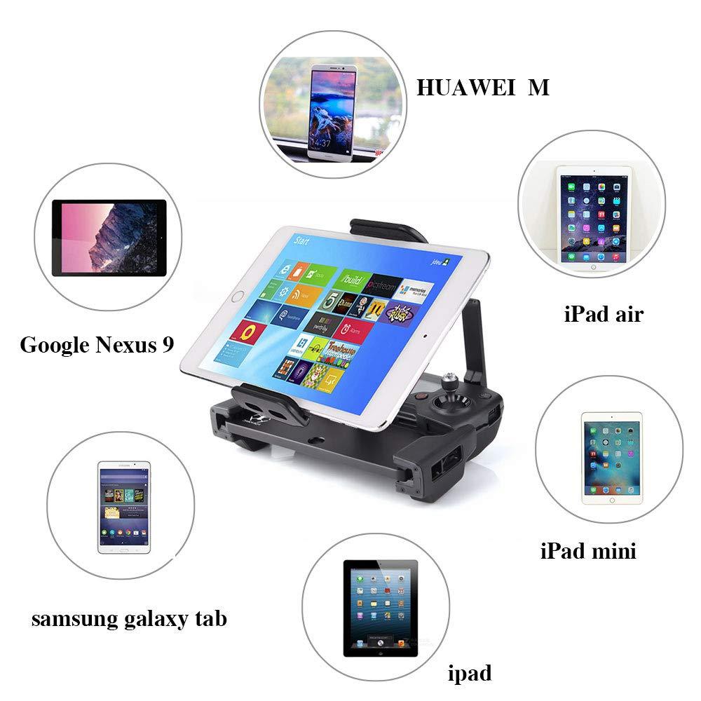 Mavic Air Dji Spark Drone non inclus KUUQA Rallonge de support de tablette pliable en aluminium-alliage avec lani/ère pour contr/ôleur /à distance Mavic Pro Mavic 2