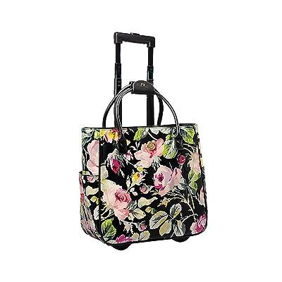 Grace Black Floral Rolling Bag