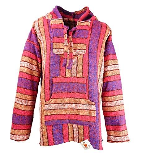 um Baja Hoodie Sweatshirt Pullover Jerga Poncho (Pink Panther, Large) (Drug Rug)