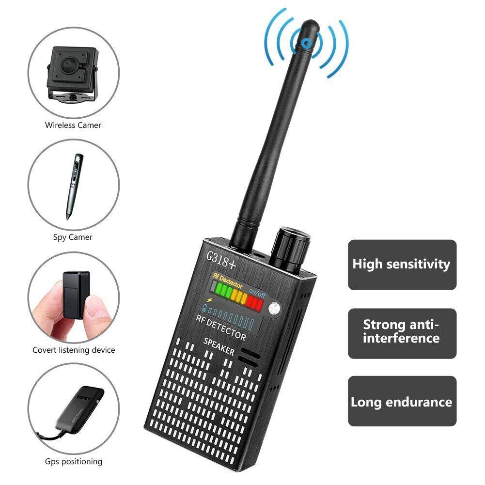 CaGuan Anti-Spy Wireless RF Signal Detector Set [2019 Latest Upgrade] Bug GPS Camera Signal Detector,for Hidden Camera GSM Listening Device GPS Radar Radio Scanner Wireless Signal Device Finder by CaGuan