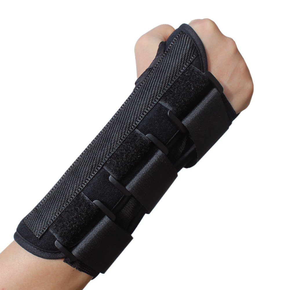 KNASI Carpal Tunnel Syndrome Night Wrist Support Brace,Right And Left Hand Orthopedic Wrist Fracture Splint Arm Brace for Tendonitis Arthritis,Adjustable Wrist Guards Women Man (NEW Right, Large)