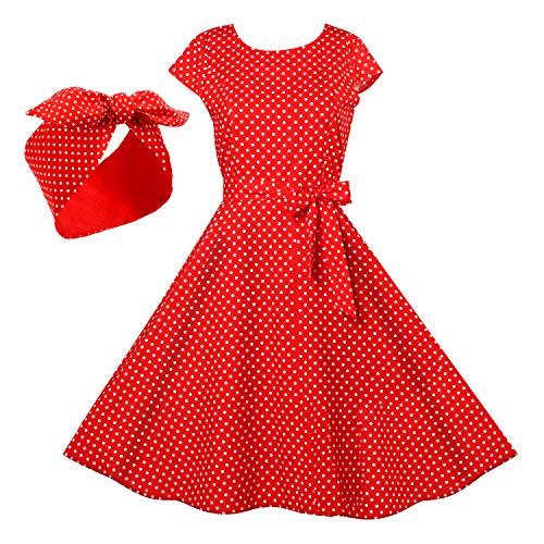 Women Polka Dresses 50s...