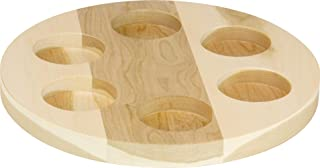 product image for Flight Tray, Round Cherry 6-Hole - Made in USA
