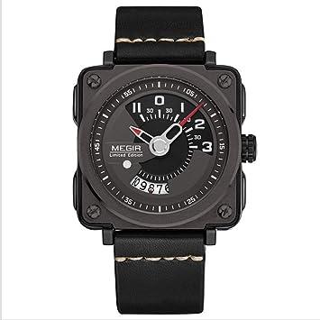 North King Reloj Calendario Deportes Moda Mesa Cuadrada Cuarzo Relojes Bonitos Cuarzo Relojes Fecha Pantalla Hombres