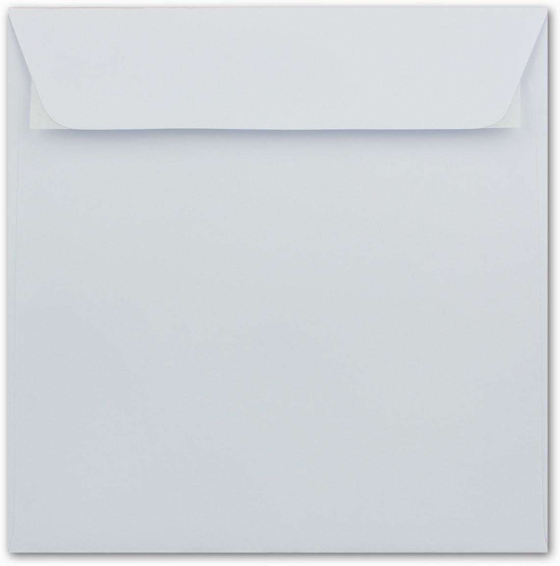 160 x 160 mm Blanc Enveloppes carr/é Collage adh/ésif 50 Umschl/äge Wei/ß
