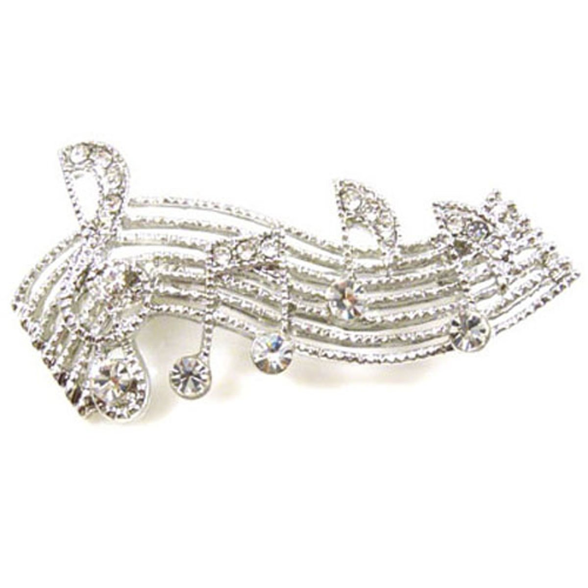 bd6caf22530 Brooches Store Silver   Swarovski Crystal Music Notes Brooch  Brooches  Store  Amazon.co.uk  Jewellery