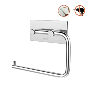 Self-Conscious New Arrivial Kitchen Towel Holder Roll Paper Storage Rack Tissue Hanger Under Cabinet Door High Resilience Bathroom Fixtures Bathroom Hardware
