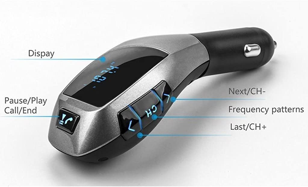 USB TF Card MP3 Player with LCD display for iPhone 6S Plus SE Android Smartphone Handfree calling kit Nexus Motorola Samsung Galaxy S7 Edge S6 S5 Note 5 4 3 Car Bluetooth FM Transmitter