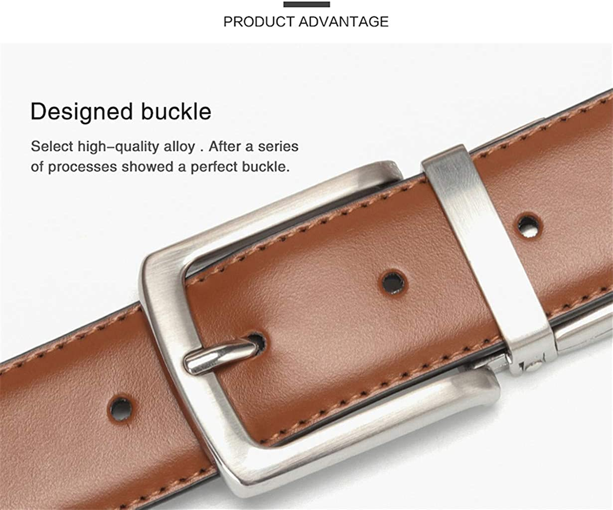 Leather Waist Belt For Jeans Male Rotated Buckle Designer Cowskin Belts