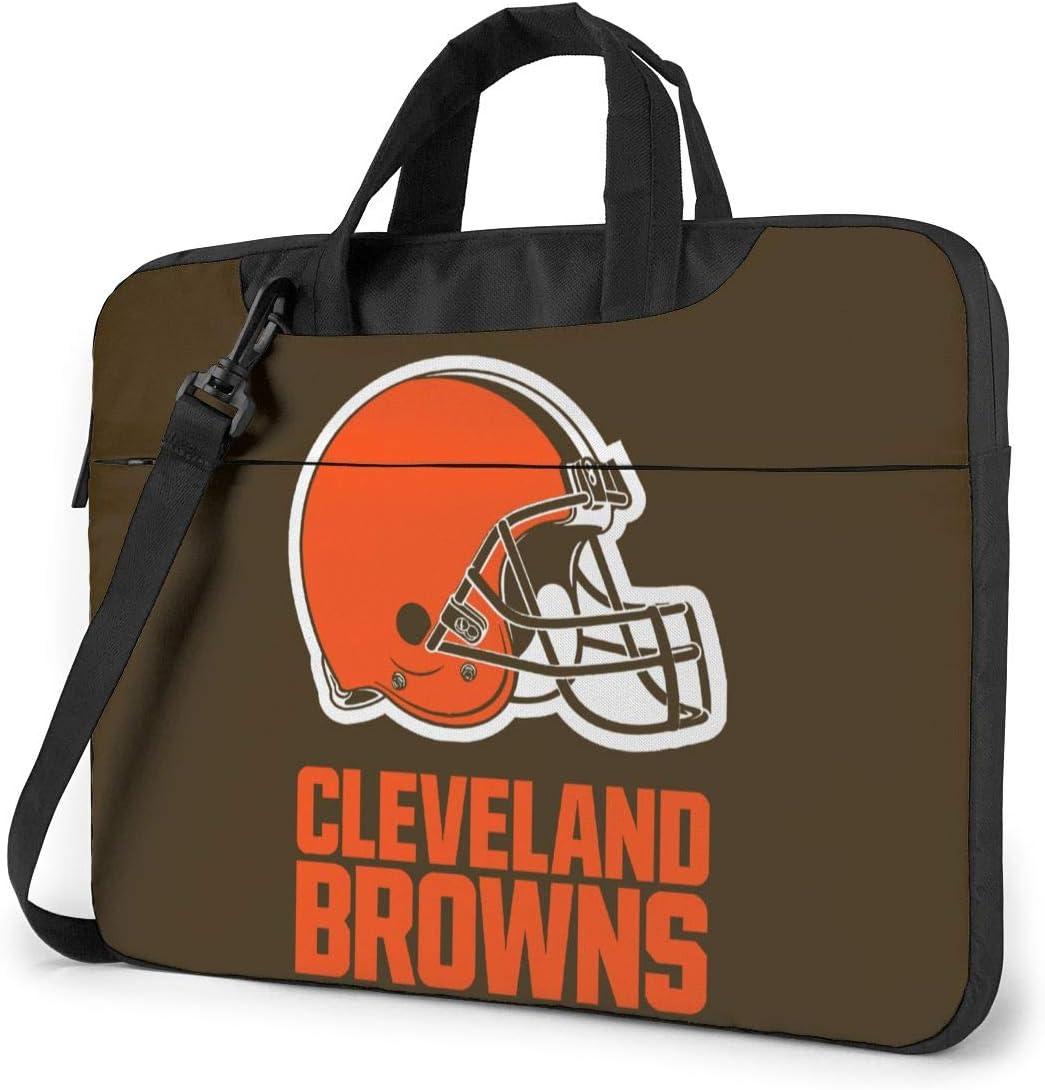 Azhangljqn Laptop Bag Cleveland Browns Laptop Shoulder Bag, One Shoulder Shockproof Laptop Bag, Handbag, Business Travel Bag