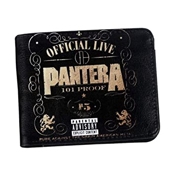 SWVV Billetera Hombres Pantera Wallet Heavy Metal Rock Band ...