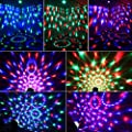 Disco Ball Party Lights-Vnina 3W 7 Colors Mini Magic Stage Lighting Effects Sound Activated DJ Light Strobe LED Lights with Remote for Kids Toys Birthday Party Karaoke Club Wedding Holiday Night Light