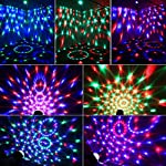 Disco Ball Party Lights Vnina 3 W 7 Colors Mini Magic Stage Lighting Effects DJ Light Strobe LED Bulbs with Remote for Kids Toys Birthday Gifts Karaoke Club Bar Wedding Holiday Dance Night House Lamps by Vnina