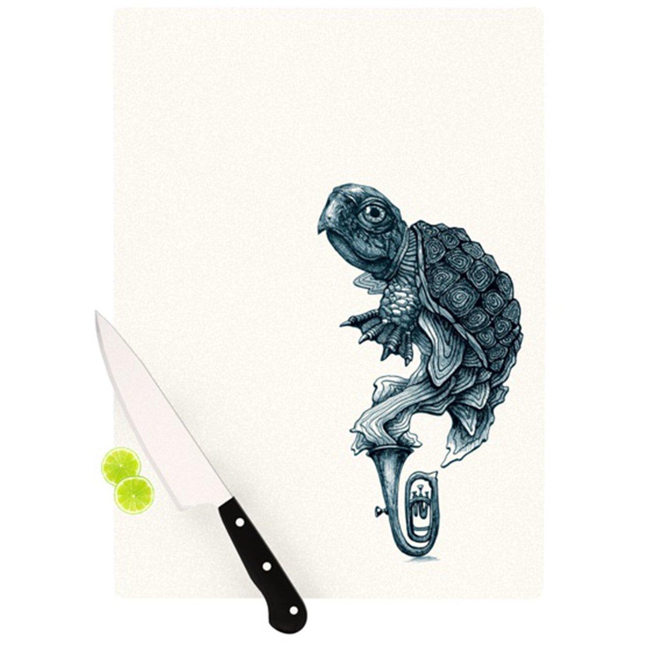 Kess InHouse Graham Curran Turtle Tuba Cutting Board 11.5 by 15.75-Inch