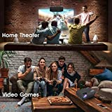 ManyBox Mini Projector, 4500 LUX Portable Video