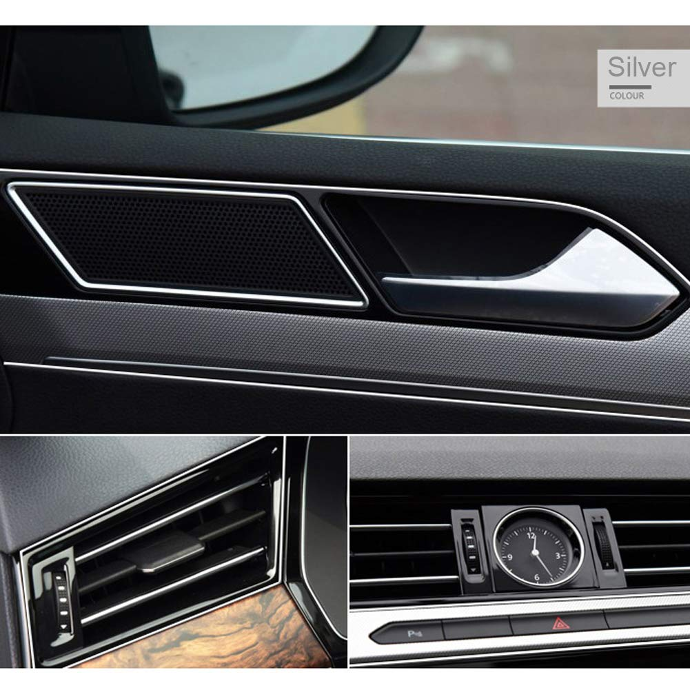 Car Interior Trim Strip Ashero 3D DIY Automobile Motor Exterior Decoration Moulding Trim Strip Line Gold 5meters