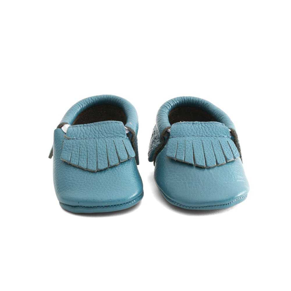 Amazon.com | Mac and Lou Baby Gladiator Toddler Soft Sole Leather Moccasins Turquoise | Shoes