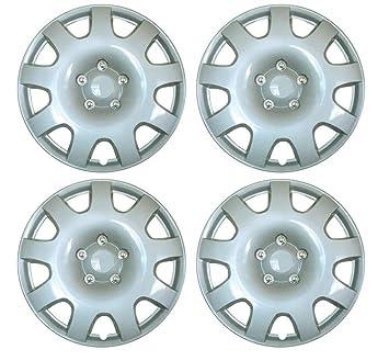 "Set de 4 tapacubos 15 ""plata/Hub Caps para Nissan Micra Note Almera"