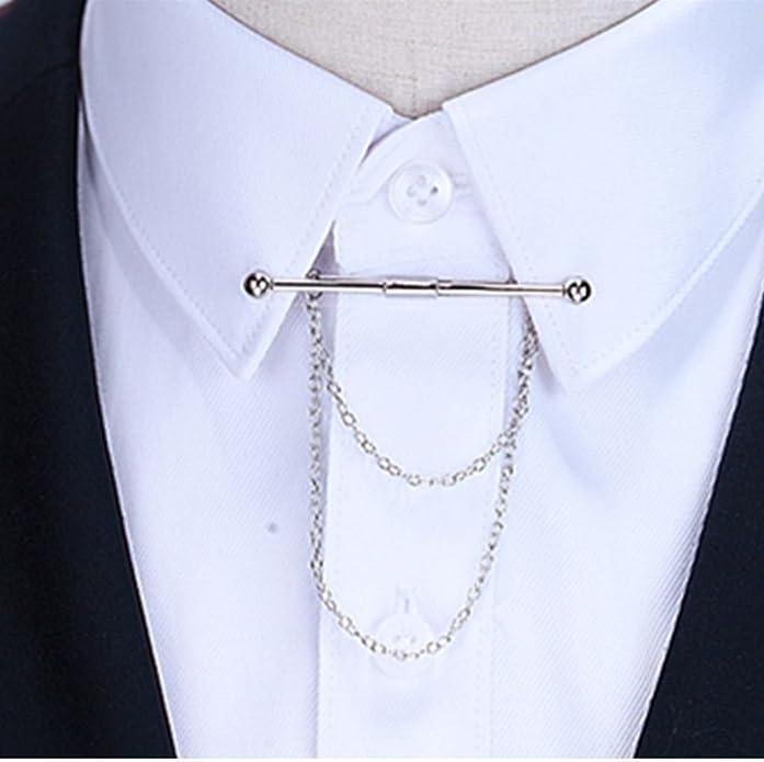 PiercingJ - Clip de Corbata con Cadenas para Camisa: Amazon.es: Joyería