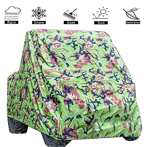 (VVHOOY UTV Cover Waterproof Heavy Duty,All Weather Oxford Utility Vehicle Storage Cover for Polaris Ranger Kawasaki Mule Yamaha Rhino Honda RZR Pioneer and More(114.17 x 59.06 x 74.80inch)(Camo))