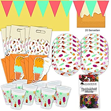 Kinder-Geburtstag Party Deko Feier Fete Motto Eis