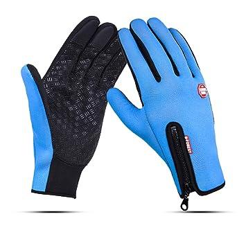 7eac4324bc84f3 HETTO Touchscreen Handschuhe Herren Winddicht Rutschfest Fahrradhandschuhe  Damen Handschuhe Winter beim Laufen Wandern Bergsteigen für Herbst