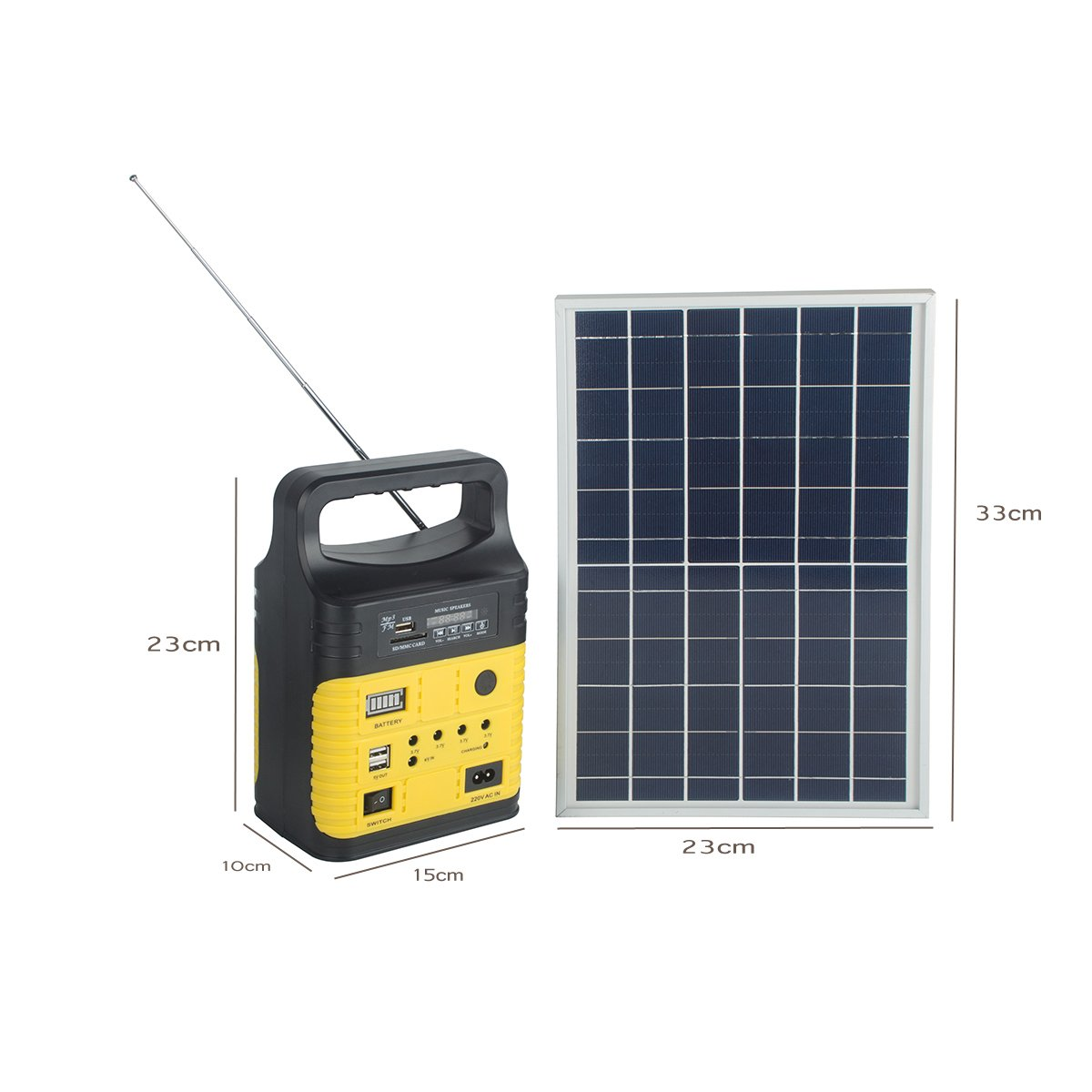 DODOING Solar Power Generator Portable kit, Solar Generator System for Home Garden Outdoor Camping, Power Mini DC6W Solar Panel 6V-9Ah Lead-acid Battery Charging LED Light USB Charger System by DODOING (Image #8)