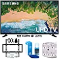 """Samsung UN43NU6900 43"""" NU6900 Smart 4K UHD TV (2018) w/Wall Mount Bundle Includes, Wall Mount Kit for 19-45 inch TVs, Screen Cleaner (Large Bottle) and SurgePro 6-Outlet Surge Adapter w/Night Light"""