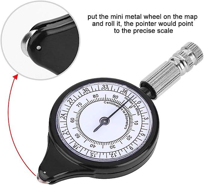 Multifunctional Distance Map Measuring Gauge Measurement Instrument for Outdoor Camping Hiking VGEBY Map Measurer