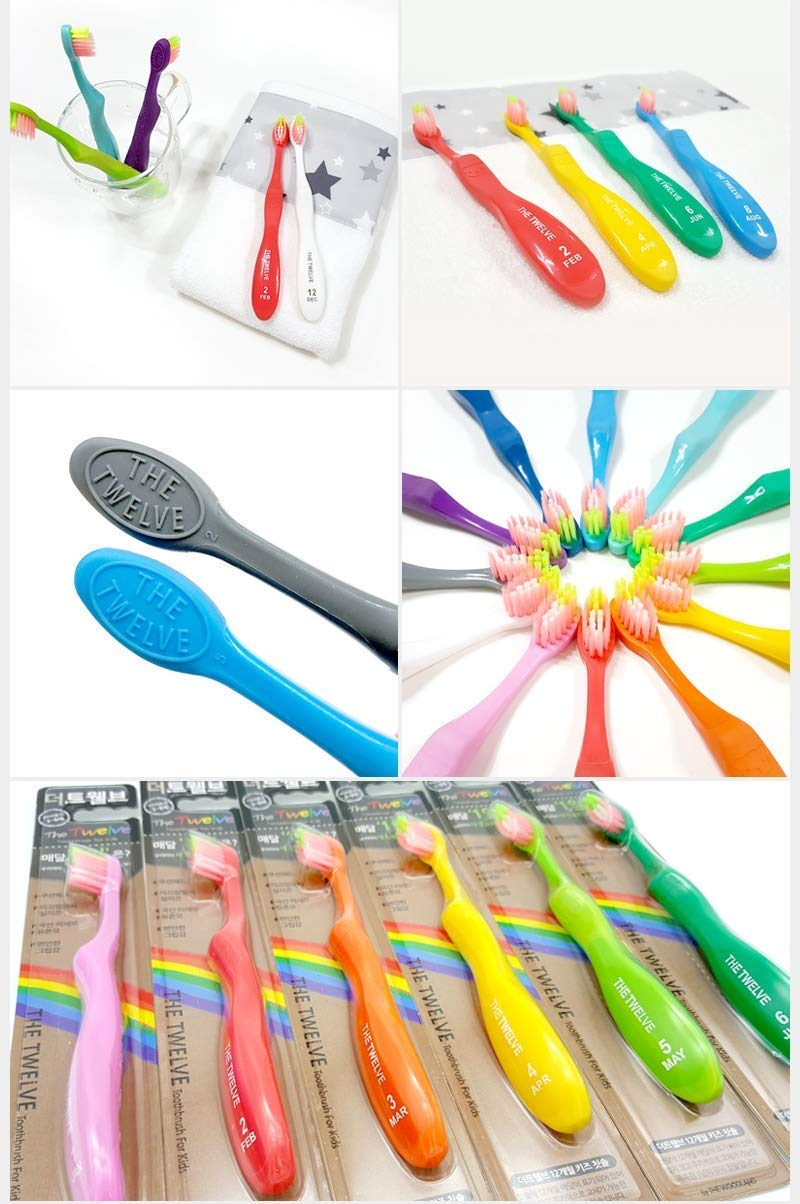 TheWoodland Kids Toothbrush for 3-8 Years Rainbow Colors and Packs (24 PACK)