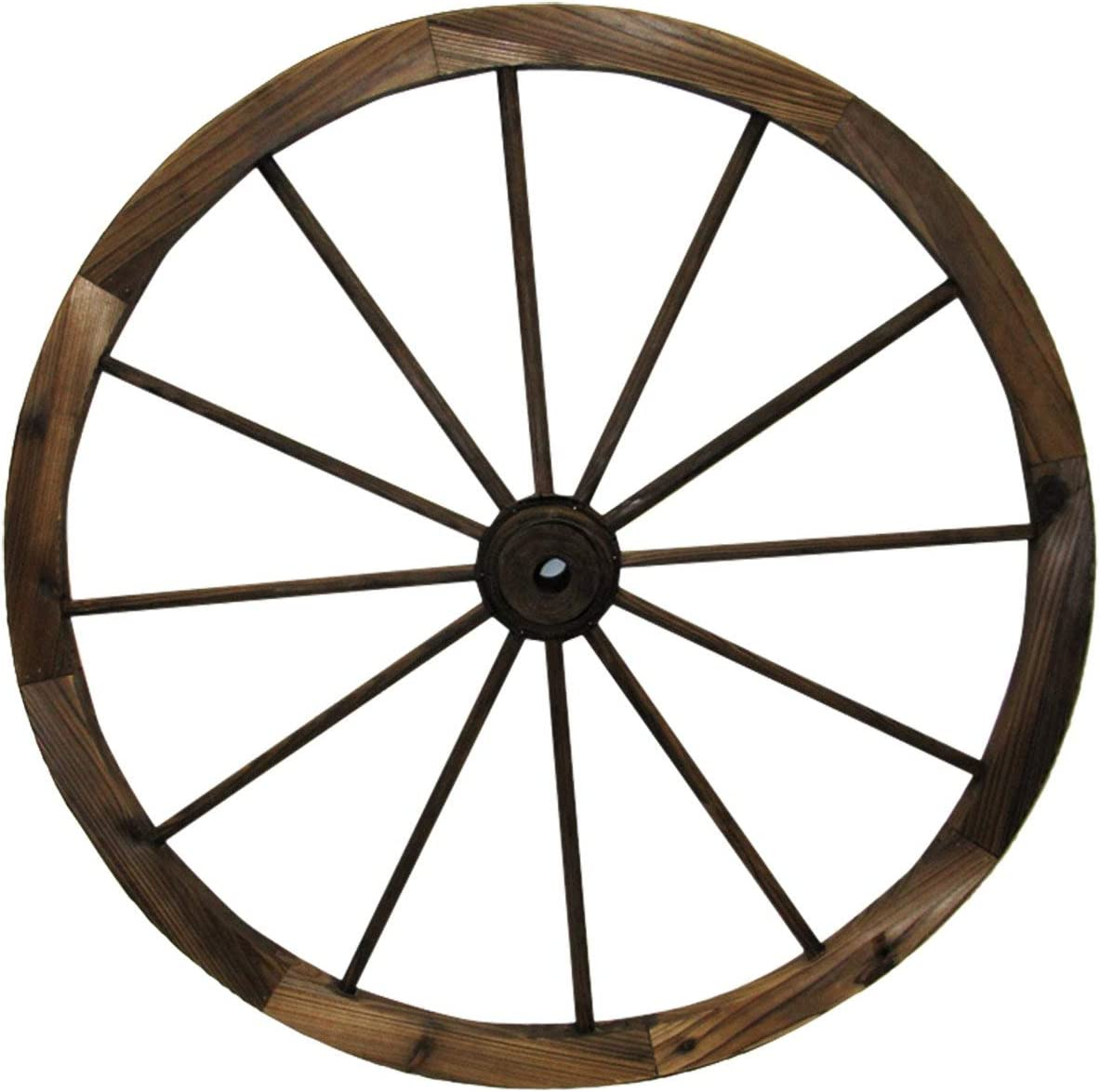 "Leigh Country TX 93953 36"" Wagon Wheel, 36 Inches, Walnut Finish"
