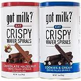 GOT MILK Galletas Kit Wafer Spirals Hazelnut/Chocolate & Cookies and Cream: Incluye 2 botes de metal con deliciosos…