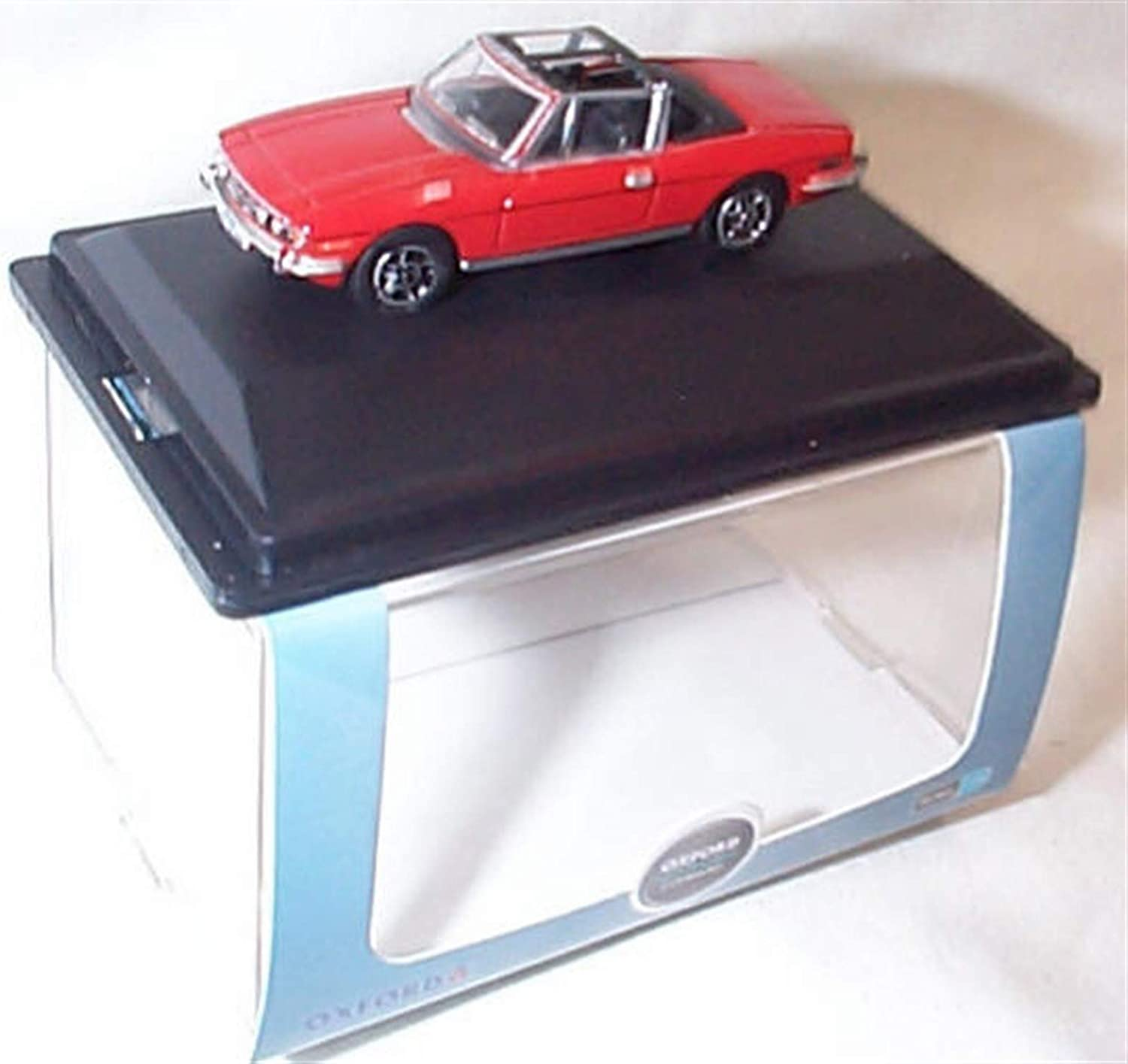 Oxford triumph stag pimiento red car vehicle 1:76 scale diecast model
