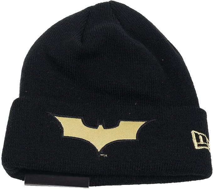 New Era Batman Character Knit Black Gold Child Beanie Beany Wool A Enfant