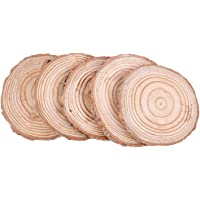 Prettyia Round Unfinished 9-10cm Wood Circles Chips Arts Projects, Board Game Pieces