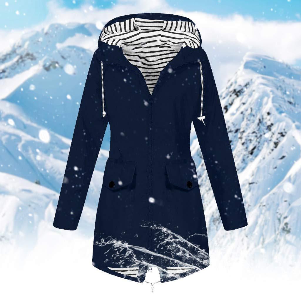 Womens Lightweight Rain Jacket Active Outdoor Hooded Waterproof Raincoat Windproof Coat Breathable Windbreaker S-5XL