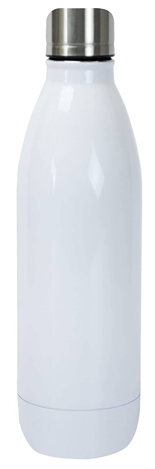 Classic Matte Black 48150 Boston Warehouse Stainless Steel 17-Ounce Cantini Canteen Bottle Vacuum Insulated Double-Wall for Hot and Cold Drinks