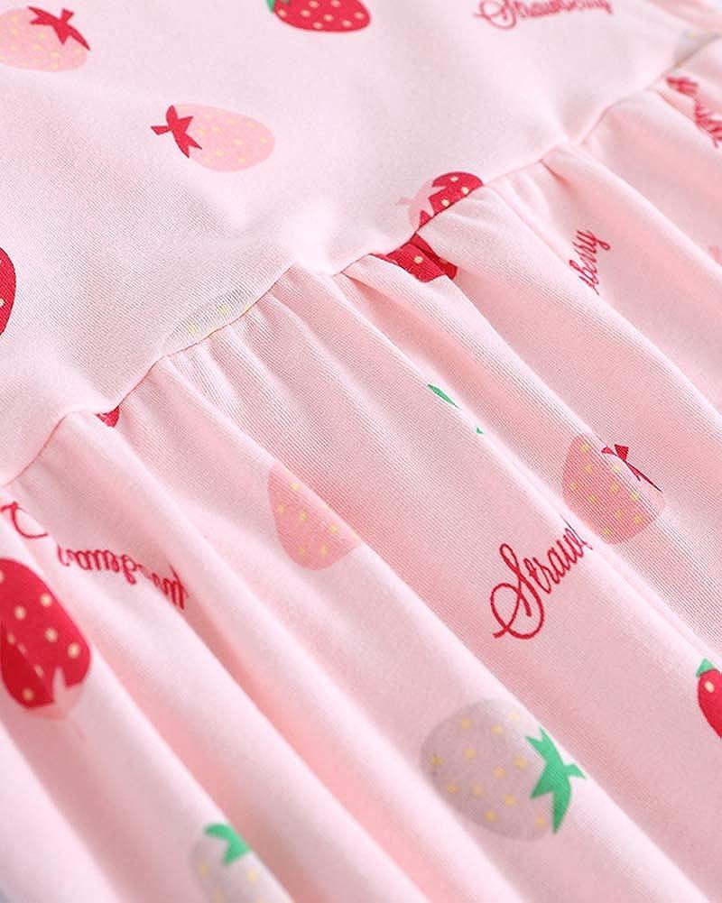 Ragazze Camicie da Notte Stampa di Frutta Pigiami e Vestaglie per 3-8 Anni