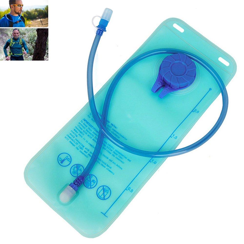 Comficent Bolsa de Agua Portátil de 2 Litro Bolsa de Agua Deportiva para Usos en Espacios Exteriores al aire libre para correr senderismo ciclismo y mucho más