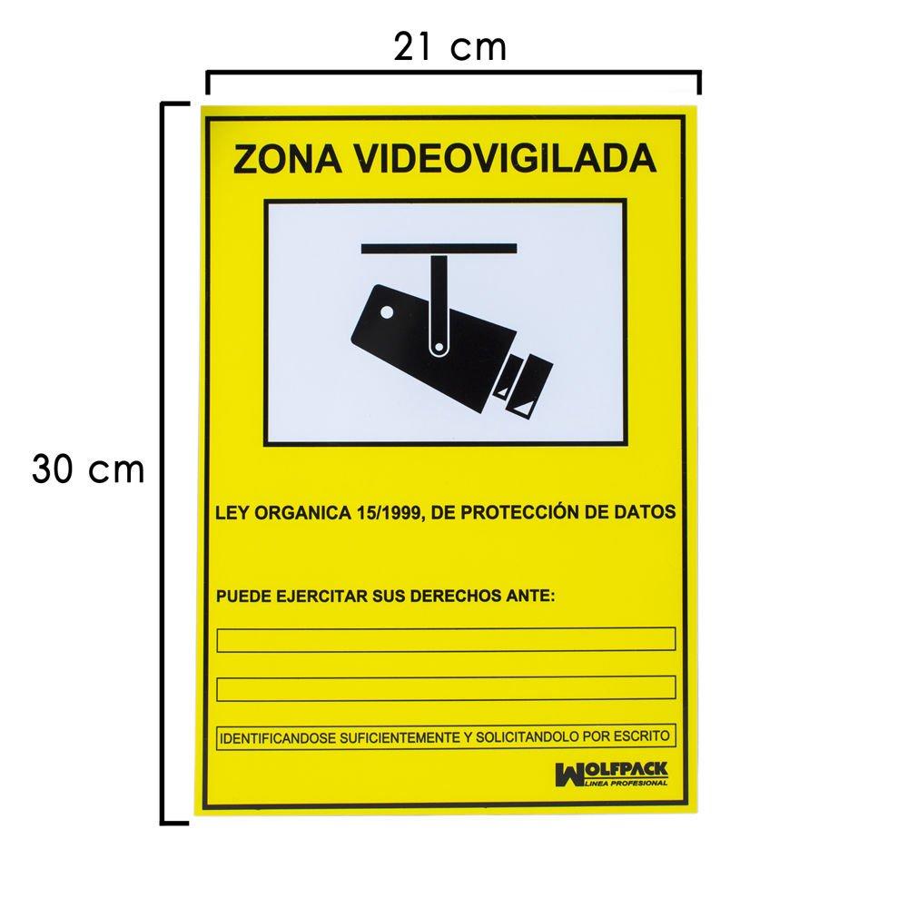 Wolfpack 15050920 Cartel Zona Videovigilada 30x21