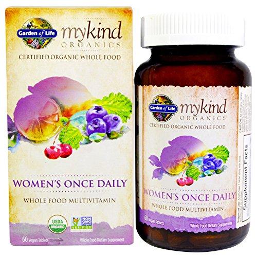 Garden of Life, (2 Pack) MyKind Organics, Women's Once Daily, 60 Vegan Tablets