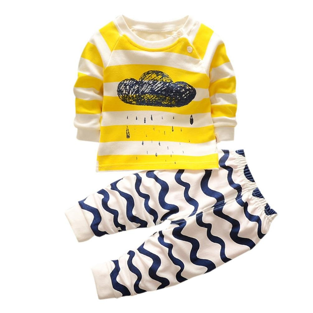 SHOBDW Boys Clothing Sets, Baby Girls Cartoon Print Hoodie Long Sleeve Tops Shirt + Pants Outfits Newborn Infant Spring Clothes SHOBDW-029