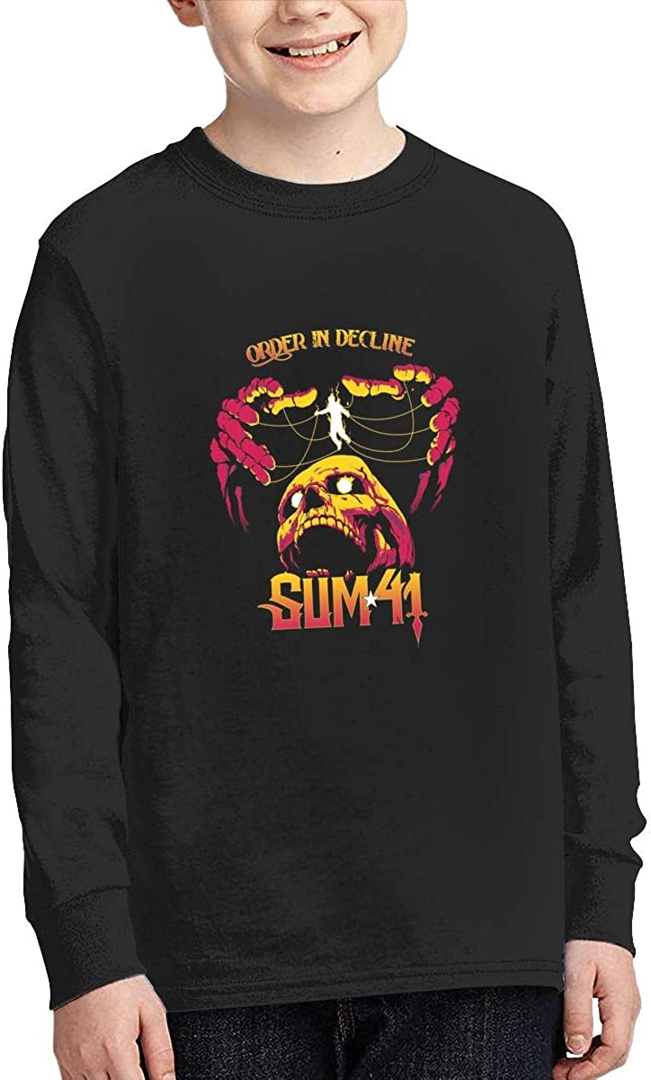 RyanCSchmitt Sum 41 Youth Boys Girls Crew Neck Long Sleeves T Shirt Fashion Teenagers Tee Shirts