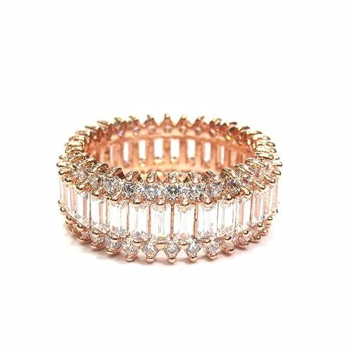 19f917393275 jewelshingar joyería rosa chapado Anillo American Diamante para mujeres  (21722-ring)