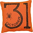 Primitives by Kathy Halloween Or. Oct. 31St Throw Pillow, 10-Inch Square