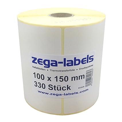 térmica etiquetas en rollo - 100 x 150 mm - 330 unidades de cada ...