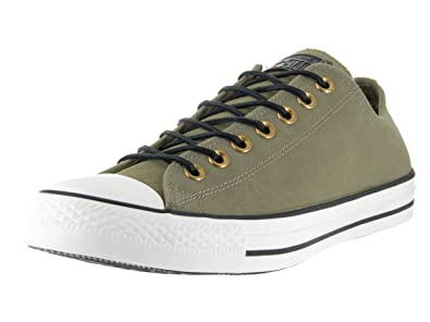 9f0b8940b430 Converse Unisex Chuck Taylor All Star Ox Fatigue Green Egret Black  Basketball Shoe 5