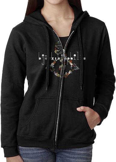 AmyMcLeod Bjork Women Funny Drawstring Sweatshirt with Pocket