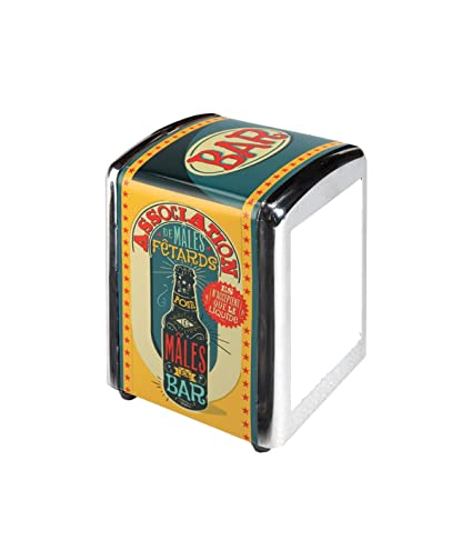 Natives 700280 – Dispensador de servilletas 3 Capas, Metal, Multicolor, 10 x 9
